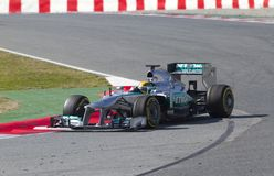 Formula One Teams Test Days at Catalunya circuit Royalty Free Stock Photo