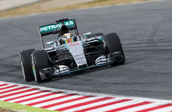 FORMULA ONE TEST DAYS - LEWIS HAMILTON royalty free stock photos