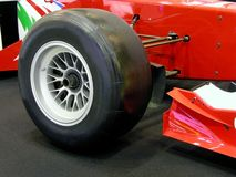 Formula one tyre. Close up of a formula one wheel Stock Photography