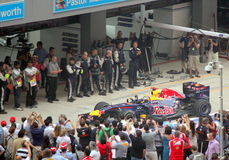Formula One Winner - Red Bull Racing royalty free stock photography