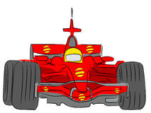 Formula race car. The red car the formula 1 on isolated white Royalty Free Stock Image
