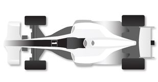 Formula Race Car. Painted white Stock Photography