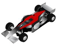 Formula Race Car Stock Photo