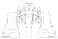 Formula race car. Abstract drawing. Tracing illustration of 3d Stock Photography