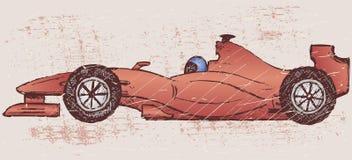 Formula 1 race. Grunge style royalty free illustration