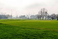 Formula 1 race track in Albert Park, Melbourne, Australia. In the fall Royalty Free Stock Images