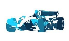 Formula racing car, abstract blue illustration. Formula racing car, abstract blue vector illustration vector illustration