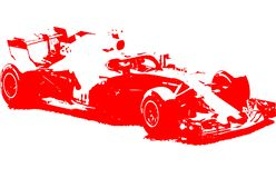Formula 1 racing car illustration stock photography
