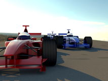 Formula racing cars Stock Images