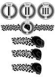 Formula racing set black and white stock illustration