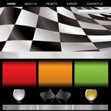 Formula racing web Royalty Free Stock Photos