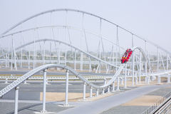 Formula rossa. Abu Dhabi royalty free stock photo