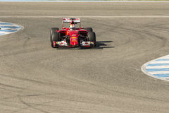 Formula 1, 2015: Sebastian Vettel, Ferrari Stock Photo
