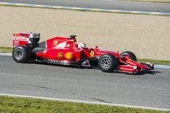 Formula 1, 2015: Sebastian Vettel, Ferrari Royalty Free Stock Images