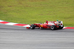 Formula 1. Sepang. April 2010 Royalty Free Stock Images
