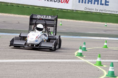 Formula Student Team Delft during the autocross event Royalty Free Stock Image