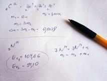 Formula su esame scritto a mano Immagine Stock Libera da Diritti