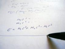 Formula su esame scritto a mano Fotografia Stock Libera da Diritti