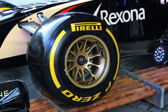 Formula 1 tyre Stock Photo