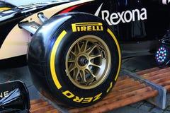 Formula 1 tyre Stock Photo