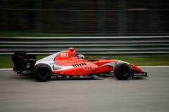 Formula V8 3.5 car driven by Aurélien Panis Stock Photos