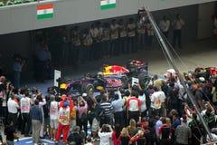Formula 1 Winner - Sebastian Vettel. Sebastian Vettel wins the first ever Indian Grand Prix Stock Images