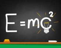 Formula written on a black school Board Stock Image