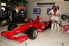 Formula1 car. Ferrari Bridgestone Formula One car. Moscow International Automobile Salon' 2008 will take place August 27 through September 7, 2008 in Moscow. For Stock Photography