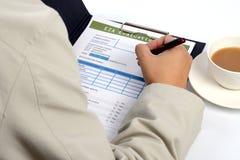 Formulaire d'évaluation d'environnement. Photo libre de droits