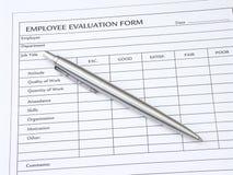 Formulaire d'évaluation des employés Image stock