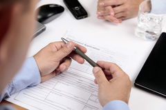 Formulaire de demande de prêt immobilier Image stock