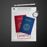Formulaire de demande de visa Image libre de droits