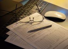 Formulaire de réclamation d'assurance médicale maladie Photographie stock