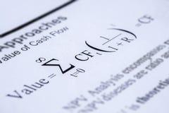 Formular ταμειακής ροής έκπτωσης πρότυπο Στοκ Εικόνες