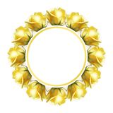 Formular für Ihr Design, realistische gelbe Rosen lizenzfreie abbildung