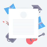 Formular für Studenten und kreative Anmerkungen Lizenzfreie Stockfotos