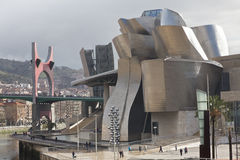 Formulare des TitanGuggenheim Museums in Bilbao, Badekurort Stockfotografie