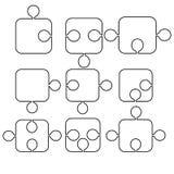 Formulare von Puzzlespielen Stockbild