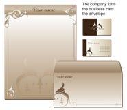 Formulario comercial formado de los efectos de escritorio libre illustration