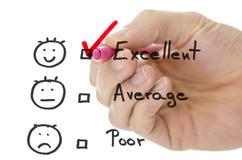 Formulario de evaluación del servicio de atención al cliente Imágenes de archivo libres de regalías
