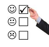 Formulario de evaluación del servicio de atención al cliente Fotografía de archivo