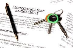 Formulario de inscripción de préstamo de hipoteca foto de archivo
