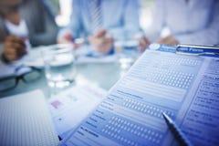 Formulario de inscripción Job Interview Employment Concepts Fotografía de archivo libre de regalías