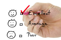 Formulario di valutazione di servizio di assistenza al cliente immagini stock libere da diritti
