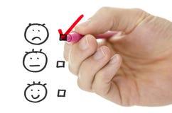 Formulario di valutazione di servizio di assistenza al cliente fotografia stock