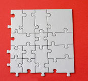formularz jigsaw części placu Zdjęcie Royalty Free
