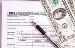 formularz pieniądze podatku obrazy stock