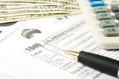 formularz stanu united podatkowe zdjęcia stock
