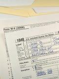 formularze są opodatkowane nas Obraz Stock