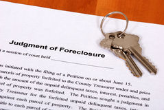 formularzowi foreclosure housekeys Zdjęcie Stock